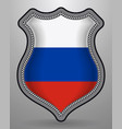 flag of russia badge and icon vector image