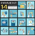 Flat concept set of payment vector image