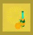 flat shading style icon champagne candles vector image vector image