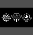 forest mountain and moon collection set logo vector image vector image
