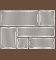 frame of metal on aluminium plate vector image vector image