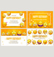 funny posters template set birthday greeting vector image vector image