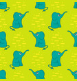 funny seamless pattern with cute elephants vector image vector image
