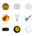 game equipment icons set flat style vector image vector image