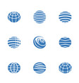 globe icons blue vector image