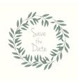 Hand drawn wreath invitation card vector image