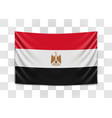 hanging flag egypt arab republic egypt vector image vector image