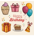 happy birthday design isolated vector image vector image