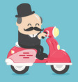 happy businessman office worker character riding vector image