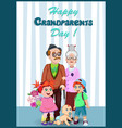 happy grandparents day greeting card with elderly vector image vector image