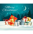 Holiday Christmas greeting card with a colorful vector image vector image