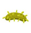 icon green bacterium vector image