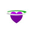 love logo template vector image vector image