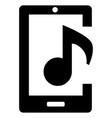 mobile phone with music sign vector image