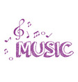 music poster with notes vector image vector image