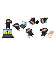 ninja help in business vector image vector image
