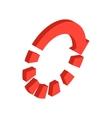 Orange loading circle sign icon vector image vector image