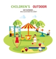 Outdoor Playground Flat vector image vector image