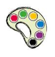 paint palette icon vector image vector image