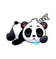 panda sleeping cute asian adorable bear lying vector image vector image