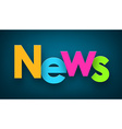 Paper news sign vector image