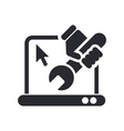 Pc repair icon vector image