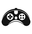 plastic gamepad icon simple style vector image vector image