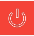 Power button line icon vector image vector image