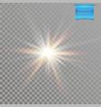 realistic vivid and glowing sun star burst vector image
