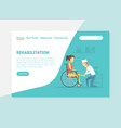 rehabilitation landing page physiotherapy vector image vector image