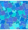 Retro geometric seamless patternof blue squares vector image