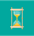 retro isolated sandglass vector image