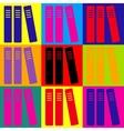 Row of binders office folders icon vector image vector image