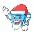 santa tea cup mascot cartoon vector image vector image