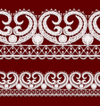 Seamless openwork lace border Realistic vector image vector image