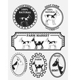 Set of goat labels badges and design elements vector image vector image