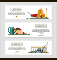 set of horizontal banners for garden desing with vector image vector image