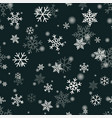 snowflake on winter gray sky background vector image vector image