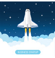 space rocket vector image