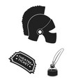 theatrical art black icons in set collection for vector image vector image