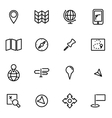 thin line icons - map vector image vector image