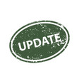update stamp texture rubber cliche imprint web or vector image