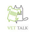 veterinary talk design template vector image vector image