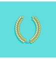 with laurel wreath in flat style design vector image vector image