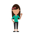woman cartoon isolated casual vector image