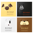 Animal portrait collection with dogs 2 vector image