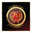 70 years anniversary label vector image vector image