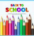 back to school typography design with realistic vector image