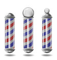 barber pole set isolated vector image