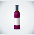 blank wine bottle mockup vector image